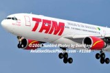 2008 - TAM Airbus A330-203 PT-MVF on approach to MIA aviation airline stock #1168