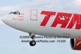 2008 - TAM Airbus A330-203 PT-MVF on approach to MIA aviation airline stock #1169