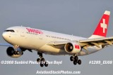 Swiss International A330-223 HB-IQJ on approach to MIA aviation airline stock photo #1289