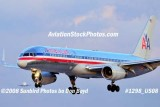 2008 - American Airlines B757-223 landing in front of Martinair Cargo MD-11 at MIA airline aviation stock photo #1298