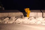 Shoveling 'Woodshed' Roof Snow  (ChristmasSnow-122608-160.jpg)