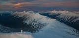 Pasayten Sunset:  Slate Peak & Gold Ridge, View North  (Slate012511-25.jpg)*