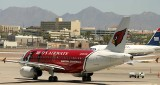 US Airways A-319 in Arizona Cardinals professional football team scheme