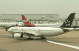 Air Canada's contribution to Star Alliance colour scheme at LHR