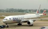 AA's bare skin One World 777-200