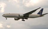 Saudi 777-200 approach LHR 27L