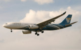 Oman Air's new A-330-200 approaching LHR 27L
