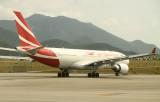 Air Mauritius A-330 on HKG ramp