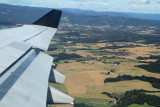 Norwegian country side soon after take off from Oslo