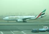 Emirates A-330 taxi towards DXB runway, Feb 2008