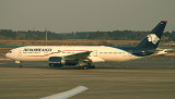AeroMexico 777-200 arriving in NRT after a long trans-pacific flight.