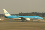 I first photographed PH-BQB when it took off from JFK in 2005.  Three years later, I meet it again in NRT, March 2008