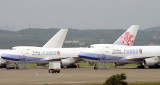 Line up of CI cargo 747s