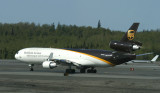 UPS MD-11 approaching runway, ANC, May, 2008