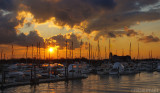 Liberty Harbor Marina at Sunset