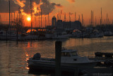 Liberty Harbor Marina at Sunset