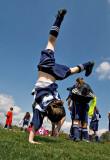Handstand celebration