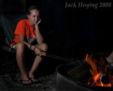 Allison makes a late night snack at Lake Loramie