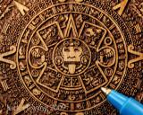 Aztec Calender Engraving