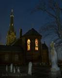 Evening view of St. Michaels Catholic Church