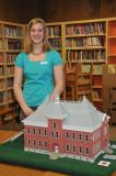Model of the original 1885 school, made by Lori Meyer