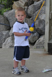 Camden's first fishing pole