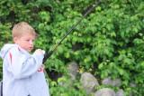 Nolan hooks a catfish