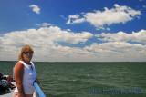 Windy Ferry Ride back from Kellys Island