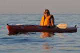 Sunset kayaking on Lake Erie
