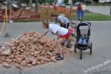Collecting bricks