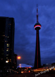 After dusk view of the CN Tower