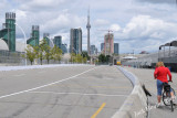 One the race track for the Toronto Indy car course (July 12th)