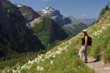 Hiking to Hidden Lake, Near the Logan Pass, Glacier National Park, Montana