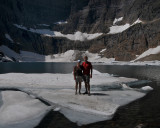 Standing on an iceburg.  Glacier National Park, Montana