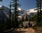 Along the trail to Victoria Glacier