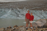 In front of the Cavell Glacier in Jasper National Park