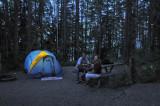 Day 1, Flight to Spokane, Camp at McDonald Lake in Glacier National Park