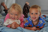 Macey and Camden in the camper