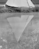 Canoe by a Teepee