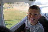 Nolan enjoying the ride