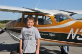 Nolan in front of the Cessna Skyhawk