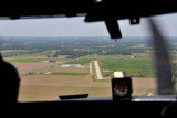 Approaching Piqua Airport from the East