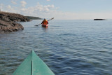 Kayaking on the cold, clear waters of Lake Superior - Two Harbors, Minnesota