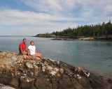 Chippawa Harbor on Isle Royale National Park