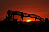Sunset through a T-6 Texan