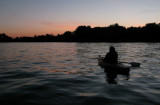 Sunset kayaking on Indian Lake, Lakeview, Ohio