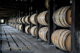 Barrels of Wild Turkey Bourbon aging
