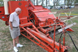 Inspecting the 1961 Allis-Chalmers Combine