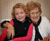 Ellie and her Great Grandma Betty (Betty's 86th Birthday)