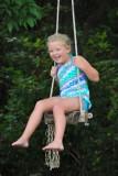 Macey enjoying the tree swing